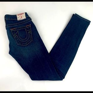True Religion Stella Skinny Straight Jeans 27X34